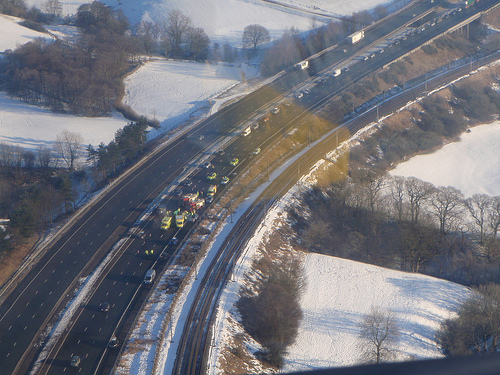 an image showing the scene of a road traffic accident similar to the one in this news story